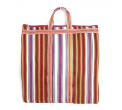 Tote bags Cabas indien simple rayé multicouleur Babachic by Moodywood