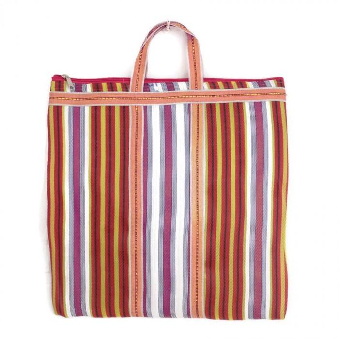Multicolor Indian striped simple bag