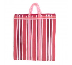 Tote bags Pink Indian striped simple bag Babachic by Moodywood