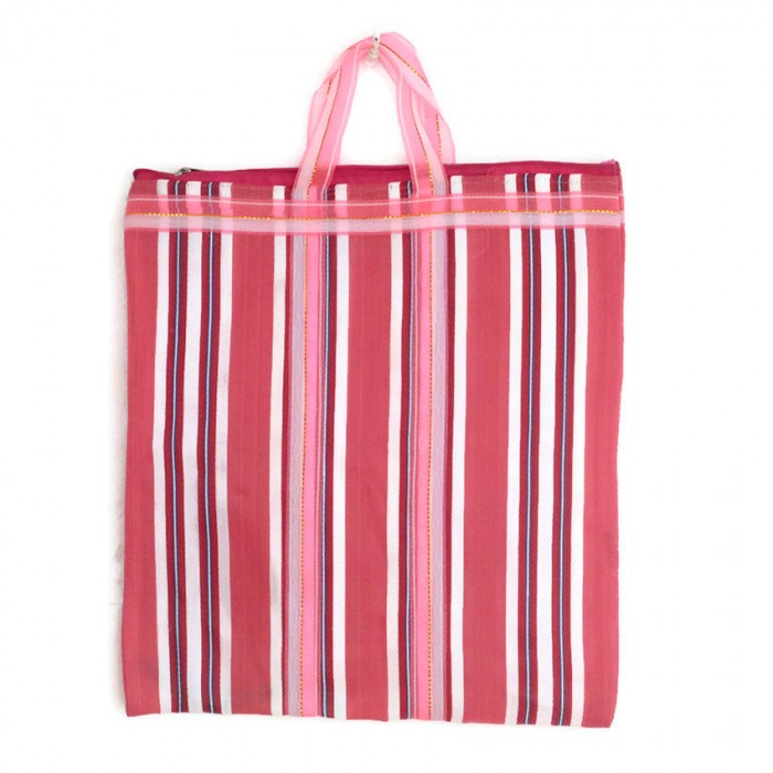 Pink Indian striped simple bag