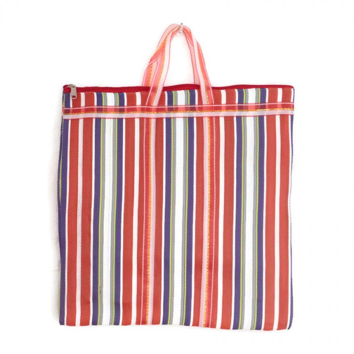 Orange and purple Indian striped simple bag