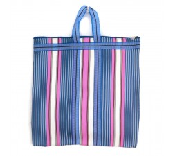 Tote bags Cabas indien simple rayé rose et bleu Babachic by Moodywood