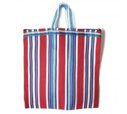 Tote bags Bolso indio simple con rayas azul y rojo Babachic by Moodywood