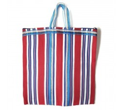 Tote bags Cabas indien simple rayé rouge et bleu Babachic by Moodywood