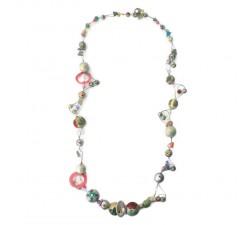 Collares Collar espiral color plateado gris de longitud media Babachic by Moodywood