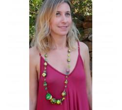 Collares Collar Mezzo verde medio largo Babachic by Moodywood