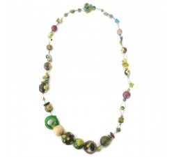 Colliers Collier Mezzo mi long vert Babachic by Moodywood