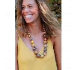 Collares Collar corto con cuentas de madera de color marrón Babachic by Moodywood