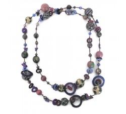 Collares Elegante collar largo color berenjena negra Babachic by Moodywood