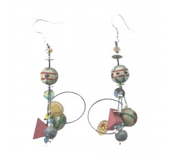 Earrings Boucles d'oreilles gris argenté 6 cm Babachic by Moodywood