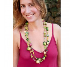 Collares Collar Retro fino extra largo verde Babachic by Moodywood