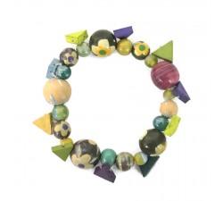 Bracelets Bracelet Bohème en perles en bois vert Babachic by Moodywood