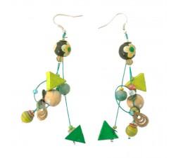 Pendientes Pendientes Gitanos 7 cm verde Babachic by Moodywood