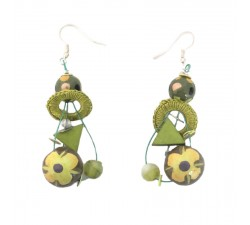 Earrings Beads earrings khaki 5 cm Babachic by Moodywood