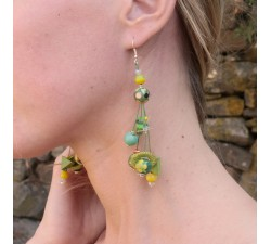 Pendientes Pendientes Gypsies 7 cm verde Babachic by Moodywood