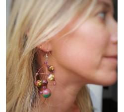 Boucles d'oreilles Boucles d'oreilles rondes violettes Babachic by Moodywood
