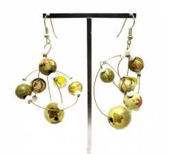 Round antic gold earrings