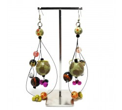 Pendientes Boucles d'oreilles longues à grelots - Marron, orange Babachic by Moodywood