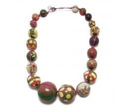 Collares Collar de bolas de madera lila Babachic by Moodywood