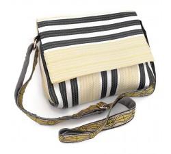 Sacs à main Petit sac à main à rabat, jaune pâle et noir Babachic by Moodywood