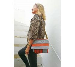 Sacs à main Petit sac à main à rabat, orange et noir Babachic by Moodywood