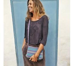 Bolsos de mano Petit sac à main à rabat, bleu et violet Babachic by Moodywood