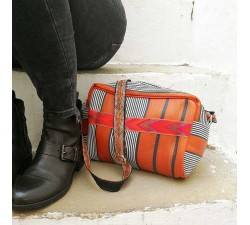Sacs à main Sac - trousse de toilette orange et noir Babachic by Moodywood