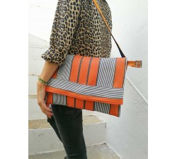 Sacs ordinateurs Sac ordinateur unisexe, orange et noir Babachic by Moodywood