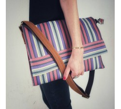 Computer bags Unisex computer bag, plum and purple Babachic by Moodywood