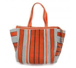 Tote bags Cabas simple orange et noir Babachic by Moodywood