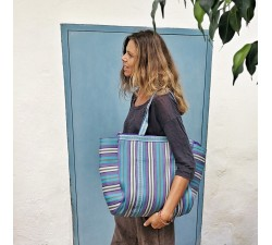 Tote bags Cabas simple bleu et violet Babachic by Moodywood
