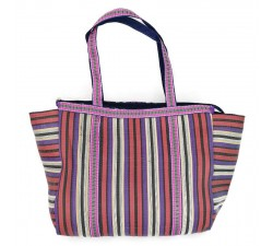 Tote bags Cabas simple prune et violet Babachic by Moodywood