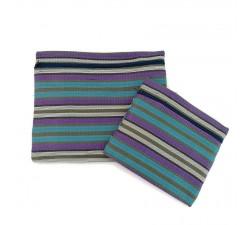 Estuches Duo de pochettes simples á zip bleu et violet Babachic by Moodywood