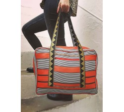 Sacs XXL Sac Week-end orange et noir Babachic by Moodywood