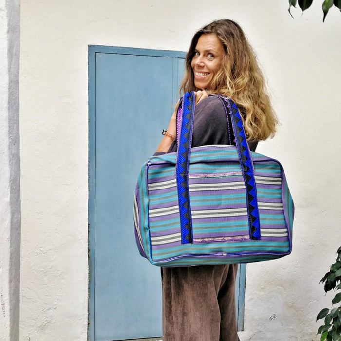 Blue and purple Weekend bag