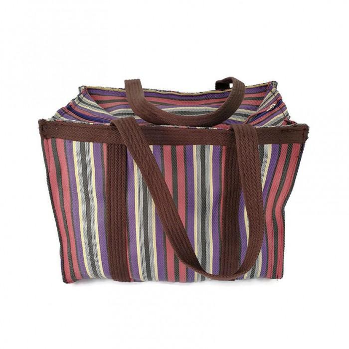 Plum and purple handbag or small storage bag