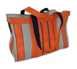 Bolsos XXL Sac cabas ou sac de rangement moyen format orange et noir Babachic by Moodywood