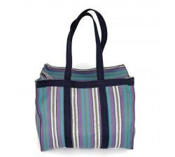 XXL bags Sac cabas ou sac de rangement moyen format bleu et violet Babachic by Moodywood
