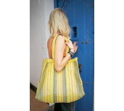 XXL bags Yellow shopping bag or medium storage bag Babachic by Moodywood