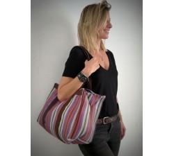 XXL bags Sac cabas ou sac de rangement moyen format prune et violet Babachic by Moodywood