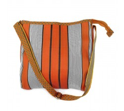 Tote bags Sacoche à longue anse orange et noir Babachic by Moodywood