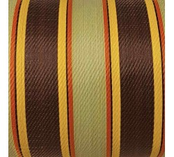 Home Recycled canvas of plastic and fiber waste, ansi, brown, red and yellow stripes