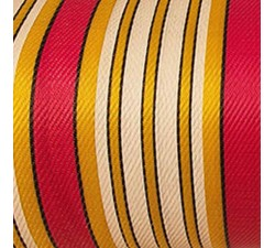 Striped recicled plastic Striped recycled fabric pink, white and yellow babachic