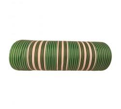 Accueil Toile plastique recyclée rayures blanches, vertes et noires