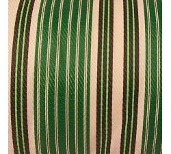 Home Canvas of recycled plastic fabris in white, green and black stripes