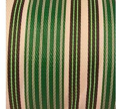 Inicio Tela de plástico reciclado, diseño de rayas, blancas, verdes y negras