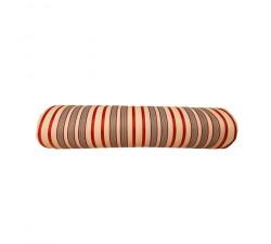 Inicio Tela de plástico reciclado, diseño de rayas rojas, blancas y fuscias