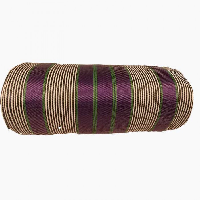 Canvas of recycled plastic fabris in black, white, purple and green stripes. a DIY must have for bags'makers.