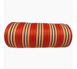 Accueil Toile plastique recyclée de rayures blanches, oranges, fuscias, et autres jaunes et noires, des couleurs vives et bri...