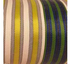 Accueil Toile plastique recyclée de rayures citron, blanche, bleus et verte, Lemon blue